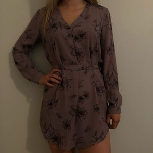 Maroon floral dress